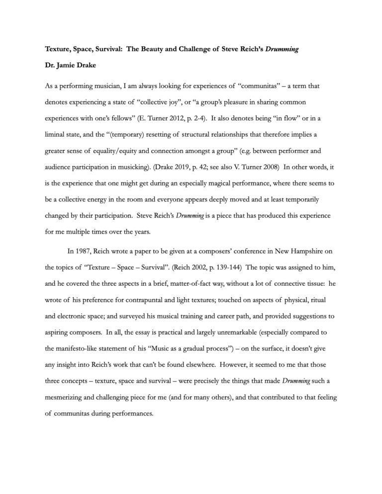 Reich Paper - J. Drake